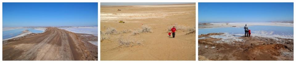 Pustynia i słone jezioro niedaleko Kaszanu